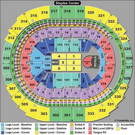 Seating Chart With Rows For Concerts Staples Center Tips