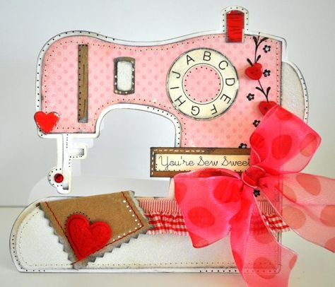 sewing machine shaped card by cutups - Cards and Paper Crafts at Splitcoaststampers