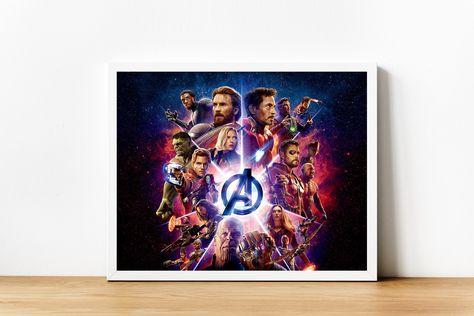 Avengers Infinity War Printable Print Superhero Avengers Poster Wall Art Home Decor Print Gift For Him Marvel Comics Custom Marvel