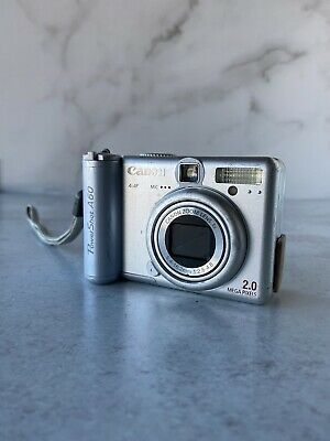Canon Powershot A60 2 0mp Digital Camera Silver For Digital Camera Digital Powershot