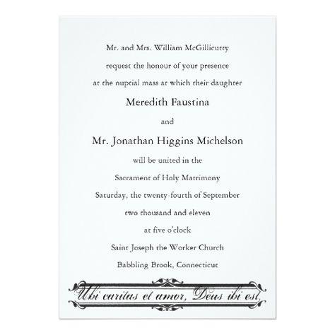 Catholic Wedding Invitation Wording No Mass Marriage Improvement
