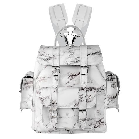 HARI II MARBLE - Leather Backpack