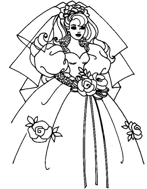 Wedding Coloring Page 4 Barbie Coloring Pages Barbie Coloring