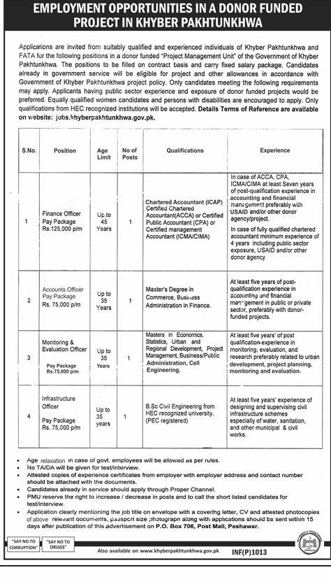Jobs In Higher Education Department Project Management Unit Kpk