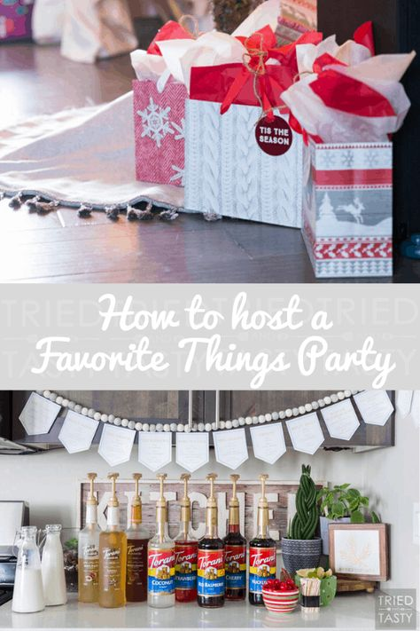 This Step by Step How To Guide will provide you with everything you need to know to throw an incredible Favorite Things Party! Your attendees will love it! | Tried and Tasty