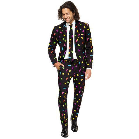 Men's OppoSuits Slim Fit The Dark Knight Novelty Suit & Tie Set