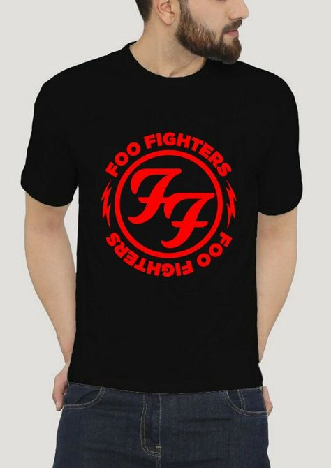 Foo Fighters FF Logo BY GILDAN BLACK T-SHIRT SIZE S-2XL #fashion #clothing #shoes #accessories #mensclothing #shirts (ebay link)