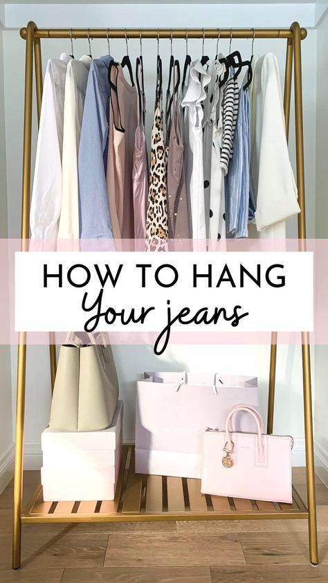 How to hang your jeans hack - closet organization