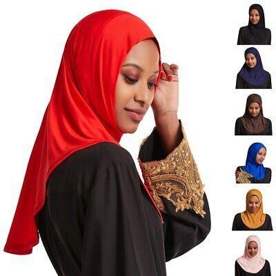 One Piece Muslim Women Amira Hijab Scarf Headscarf Wrap Headwear Islamic Shawl