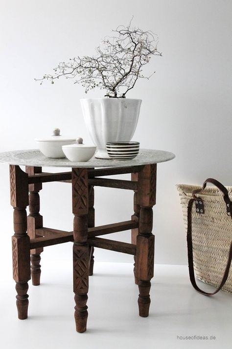 Tisch 50 Cm.Marokkanischer Tisch Gebeizt ø 60 Cm Marokkanischer Tisch