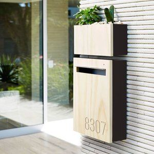 Beautifully Designed Is Our Wall Mount Letterbox With Planter Combination Design Designer Modern Mailbox Wall Planter Wall Mounted Planters