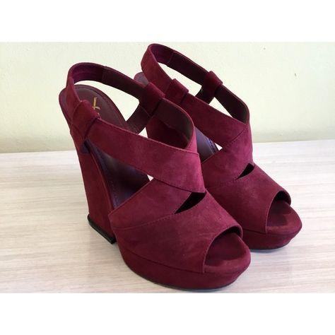Wedding Shoes Burgundy Wedges   Wedge