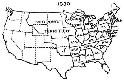 Us Maps With States About The Census Maps Pinterest - Us map in 1830