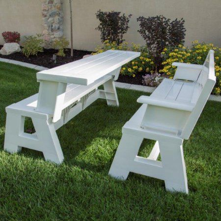 Premiere Products 5rcat Resin Convert A Bench Walmart Com Folding Picnic Table Bench Picnic Table Bench Convert A Bench