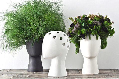 Vaso Para Plantas E Formato De Cabeça