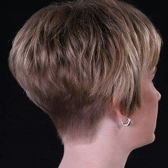 The Volume At Crown Back View Wedge Haircut Short Hairstyle Short Stacked Wedge Haircut Wedge Haircut Short Wedge Haircut