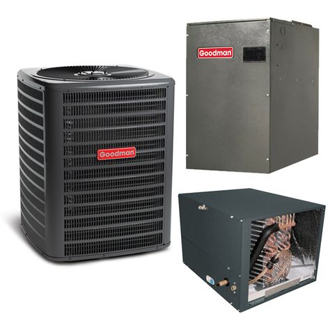 2 5 Ton A C Goodman Gsz140301 15 Seer Variable Speed Central Air Conditioner Heat Pump Upflow Downflow System Heat And Cool Heating In 2020 Heat Pump Air Conditioner Air Conditioning System Heat Pump