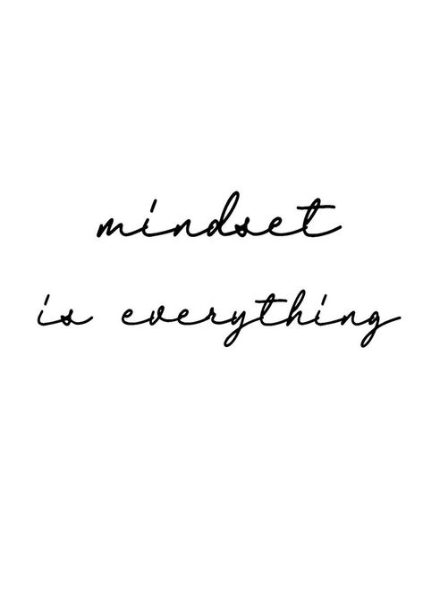 Mindset is everything, life quote, digital quote, download, wall decor