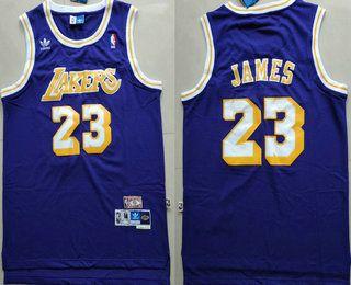 buy popular c6279 2113f Men's Los Angeles Lakers #23 LeBron James Purple Swingman ...