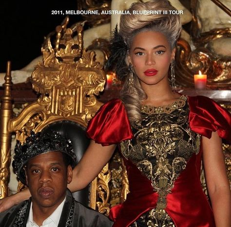 Back on the throne Queen Beyonce channels Marie Antoinette in a - new blueprint 2 on itunes