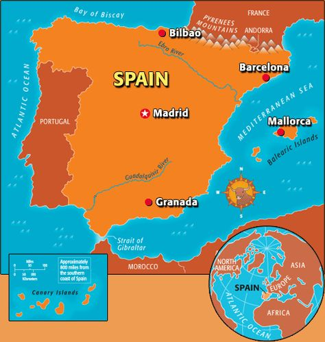 Kids Map Of Spain.Spain Sightseeing Guide Time For Kids The Story Of