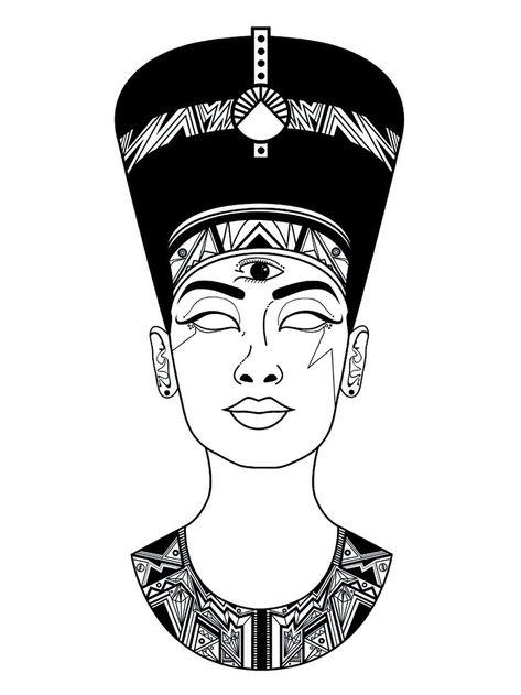 Nu-Nefertiti. Nu-Nefertiti. Nu-Nefertiti. #desenhosdetatuagens #fotosdetatuagens #ideiasdetatuagens #NuNefertiti