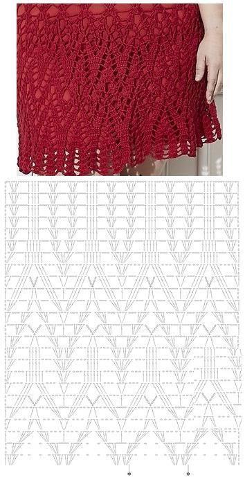 8370bb78e bella falda tutorial-esquema-patron-crochet-otakulandia.es (15 ...