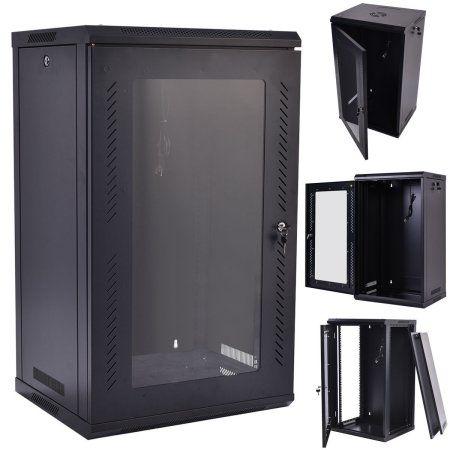Costway 15u Wall Mount Network Server Data Cabinet Enclosure Rack Glass Door Lock W Fan Server Rack Data Cabinet Wall Mounted Cabinet