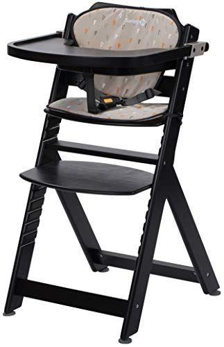 Safety 1st Chaise Haute Pour Bebe En Bois Et Evolutive Timba Avec Coussin Deep Black En 2020 Chaise Haute Chaise Haute Bebe Chaise Haute Evolutive