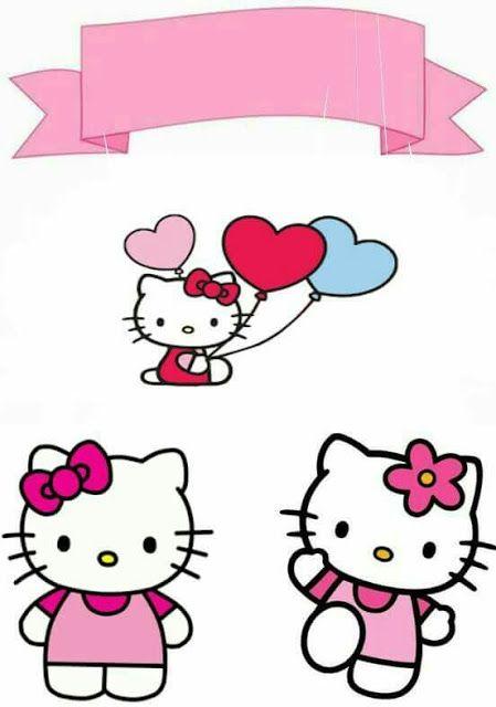 Hello Kitty Free Printable Cake Toppers Dengan Gambar Gambar