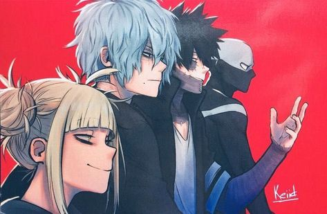 League of Villain ( Boku No Hero Academia, My Hero Academia Memes, Hero Academia Characters, My Hero Academia Manga, Kirishima Eijirou, Nerd Girl Problems, Tomura Shigaraki, Boko No, Himiko Toga