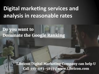 Digital marketing services and analysis in reasonable rates