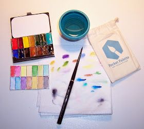 My Travel Art Kit Watercolor Kit Watercolor Pallet Art