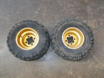 "DWT Polished Front Wheels Rims 10/"" 10x5 3+2 4//156 Yamaha YFZ450 Banshee Raptor"