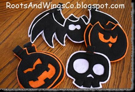 Scary Felt Halloween Garland tutorial and template