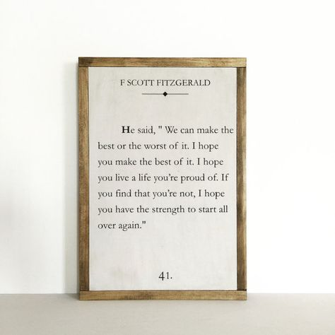 Book page sign quote sign literary quote nursery decor