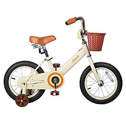Joystar 14 Inch Kids Bike For 3 4 5 6 Years Old Girls Vintage Kids Bicycle With Front Basket Training Wheel Kids Bike Kids Bicycle Bike With Training Wheels