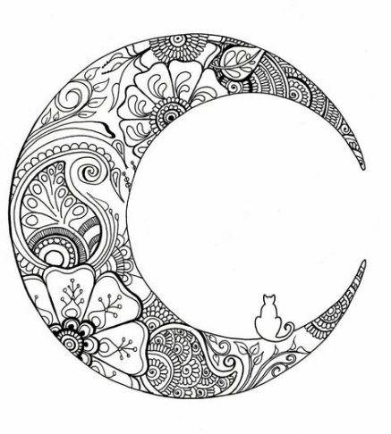 52+ Super Ideas Tattoo Moon Mandala Coloring Pages #tattoo