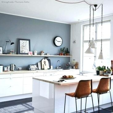 Download Wallpaper Blue Kitchen Paint Colors With White Cabinets