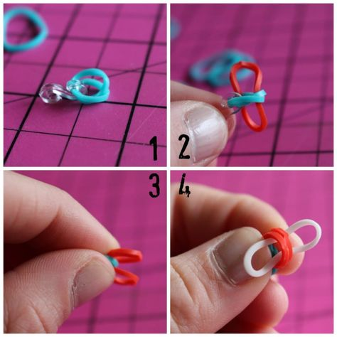 rubber band bracelets without the loom! - A girl and a glue gun