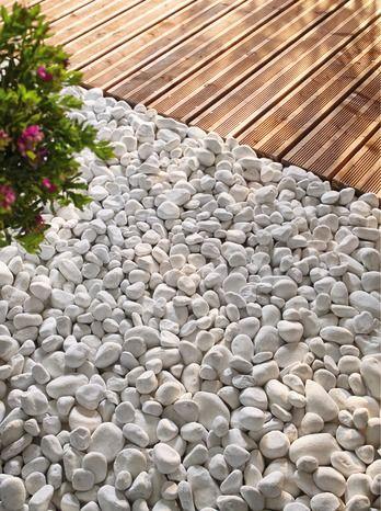 Galets Marbre Blanc De Carrare Amenagement Jardin Cailloux Amenagement Jardin Galet Terrasse Galets