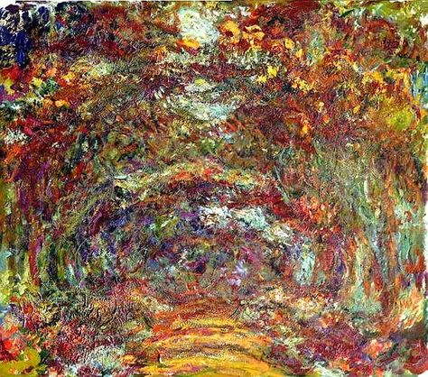Allee Des Rosiers Jardin De Giverny Claude Monet Musee