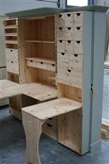 Craft Cabinet With Drop Down Table Medium Size Of It Wheels Plans