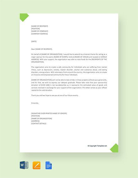 11 Sample Thank You Letter For Donation Doc Pdf Thank You