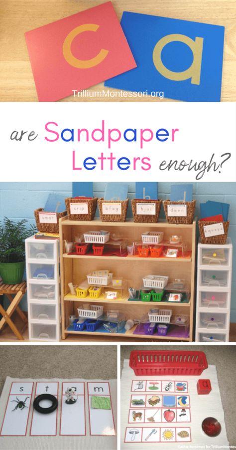 Are Sandpaper Letters Enough? - Trillium Montessori