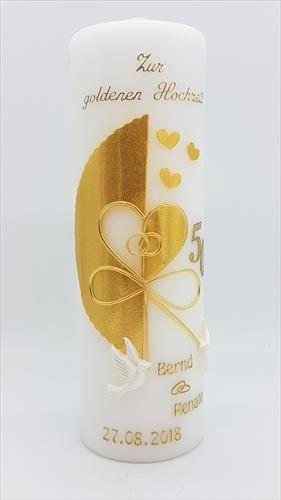 Goldene Hochzeit Kerzen Geschenk Goldene Hochzeit