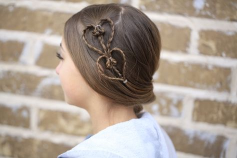 Heart Accents | Valentine's Day Hairstyle #valentinesdayhair #hearthairstyle #hairstyles #hairstyle #cutegirlshairstyles