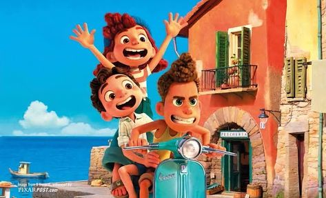 Why is Pixar's 24th film titled 'Luca' & New Images and Artwork From the Film (Il Venerdi Magazine)