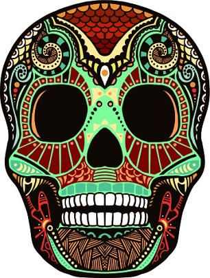Green and red skull design - maybe use this shape as the basis for mine?
