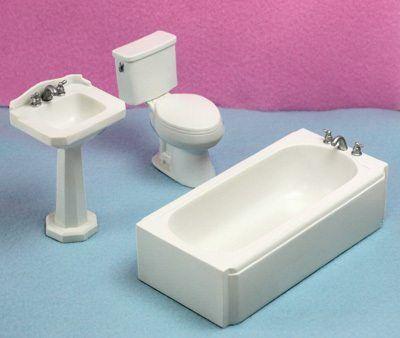 1//24 Scale Modern Dollhouse Bathtub
